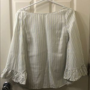 MASSIMO DUTTI blouse with bell sleeves